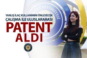 Patent Haber YANLIŞ İLAÇ KULLANIMINI ÖNLEYECEK ÇALIŞMA İLE ULUSLARARASI PATENT ALDI
