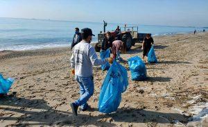 kazanli sahili temizlendi 4 KAZANLI SAHİLİNDE MÜTHİŞ DEĞİŞİKLİK